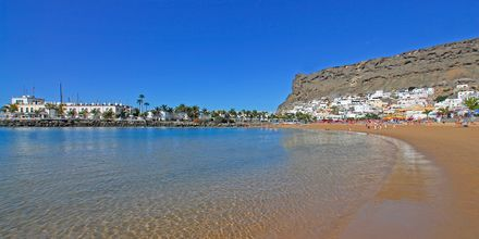Stranden i Puerto Mogán, Gran Canaria.