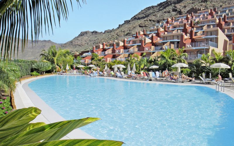 Poolområde på hotell Cordial Morgan Valle, Puerto Mogán, Gran Canaria.
