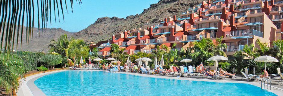 Poolområde på hotell Cordial Mogan Valle, Puerto Mogán, Gran Canaria.