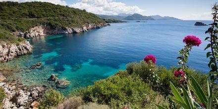 Utsikt från hotell Costa Smeralda i Sivota, Grekland.