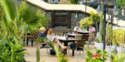 Restaurang i Costa Teguise på Lanzarote, Kanarieöarna.