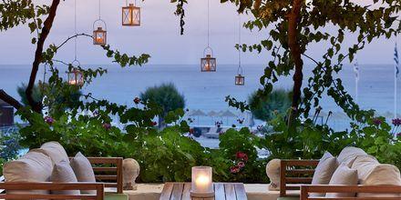 Mysig bar på hotell Creta Maris Beach Resort på Kreta, Grekland.