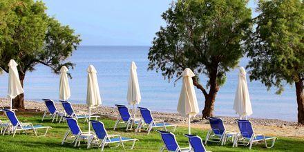 Stranden vid hotell Louis Creta Princess i Maleme på Kreta, Grekland.