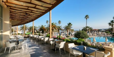 Restaurang på hotell Louis Creta Princess i Maleme på Kreta, Grekland.