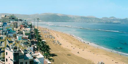 Stranden utanför hotell Cristina Las Palmas på Gran Canaria.