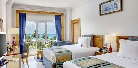 Dubbelrum på hotell Crowne Plaza Resort, Oman.