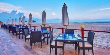 Restaurang Dolphine Beach på hotell Crowne Plaza Resort, Oman.