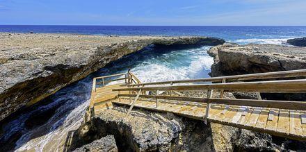 Nationalparken Shete Boka National är ett härligt utflyktsmål i Curaçao.