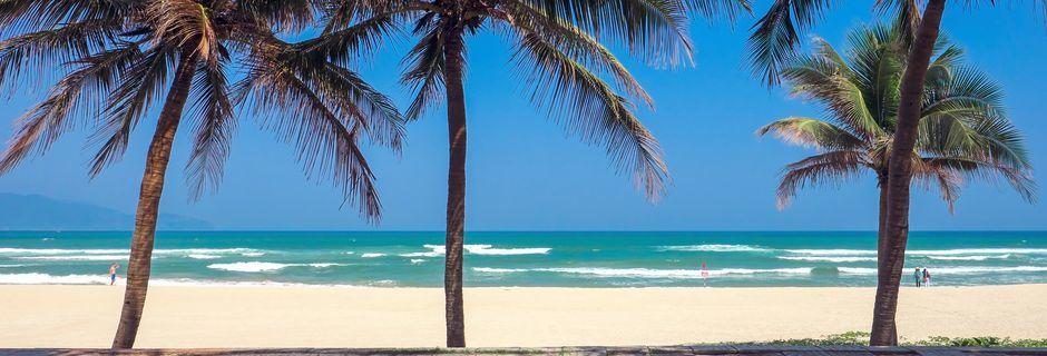 Da Nang ligger längs kusten och har flera ljuva sandstränder.