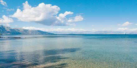 Kontokali-stranden på Korfu i Grekland.