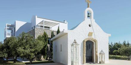 Litet kapell på hotell Diamond Deluxe Hotel i Lambi på Kos, Grekland.
