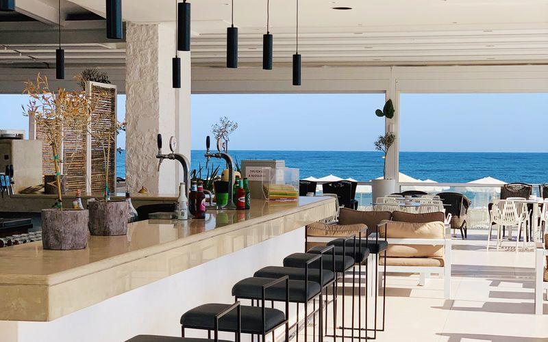 Restaurang på hotell Dimitrios Village Beach Resort i Rethymnon på Kreta, Grekland.