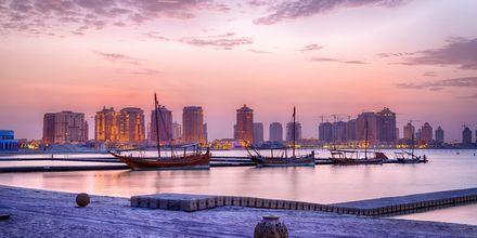 Kväll i Doha, Qatar.