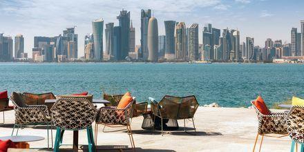 Doha, Qatar, en av världens mest snabbväxande städer.