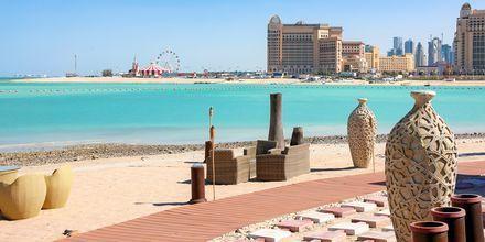 Stadsstranden Katara Beach i Doha.