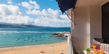 Större enrumslägenhet på hotell Don Carlos i Las Palmas på Gran Canaria.