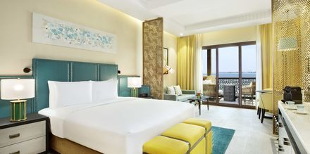 Clubrum på hotell Doubletree by Hilton Marjan Island i Ras al Khaimah.