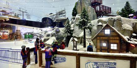 Ski Dubai med skidskola och utförsåkning inomhus i Mall of the Emirates