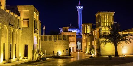 Det historiska distriktet Al Bastakiya i Dubai, Förenade Arabemiraten.