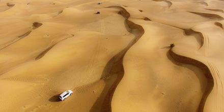 Jeepsafari i öknen, Förenade Arabemiraten.