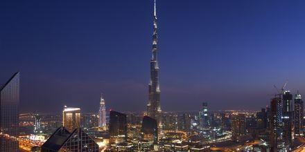 Burj Khalifa i Dubai, världens högsta byggnad.