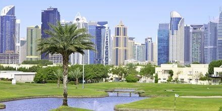 Golfbana i Dubai, Förenade Arabemiraten.
