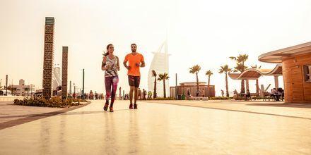 Löptur i Dubai, Förenade Arabemiraten.