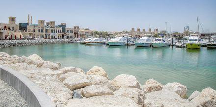 Hamnen i Al Barsha-området i Dubai, Förenade Arabemiraten.