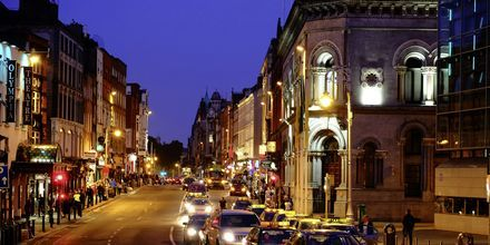 Kväll i Dublin, Irland.