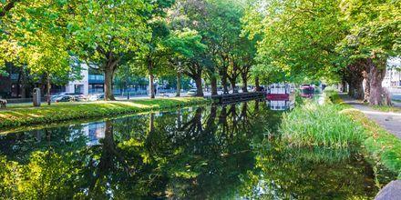 Grand Canal i Dublin, Irland.