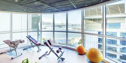 Gym på Dukes The Palm, a Royal Hideaway Hotel på Dubai Palm Jumeirah, Förenade Arabemiraten.
