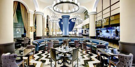 Great British Restaurant på Dukes The Palm, a Royal Hideaway Hotel på Dubai Palm Jumeirah, Förenade Arabemiraten.