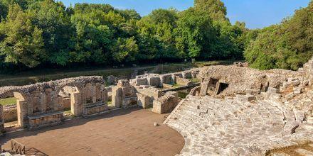 Den antika amfiteatern i Durres, Albanien.
