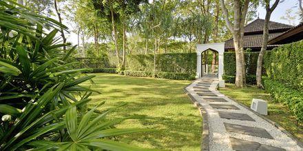 Trädgården på Dusit Thani Krabi Beach Resort på Krabi, Thailand.