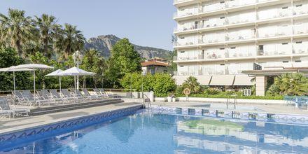 Poolområdet på hotell Eden, Puerto de Sóller, Mallorca.