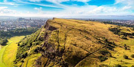 Kullen Arthur's Seat, 197 meter över havet, är en populär utsiktsplats i Edinburgh.