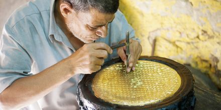 I Egypten finns det gott om prisvärt hantverk.