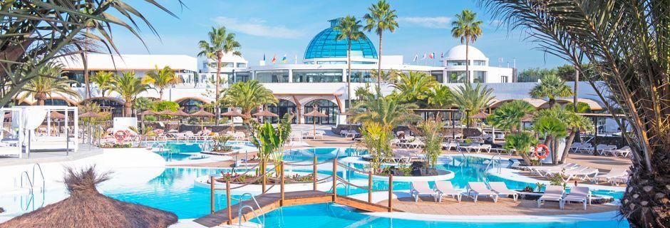 Poolområde på Elba Lanzarote Royal Village Resort i Playa Blanca.
