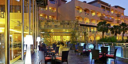 Terrass på hotell Elba Sara på Fuerteventura, Kanarieöarna.