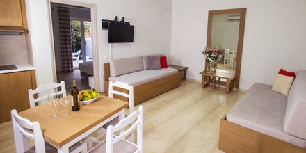 Tvårumslägenhet på hotell Elia i Kato Stalos på Kreta, Grekland.