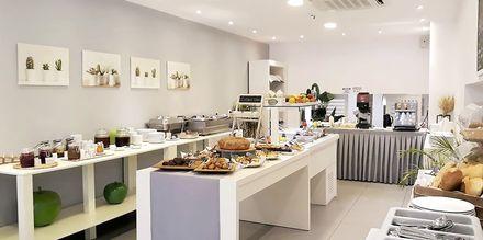 Frukostmatsal på hotell Elite, Rhodos, Grekland.