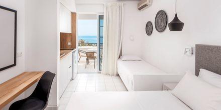 Enrumslägenhet på hotell Elvita på Rhodos.