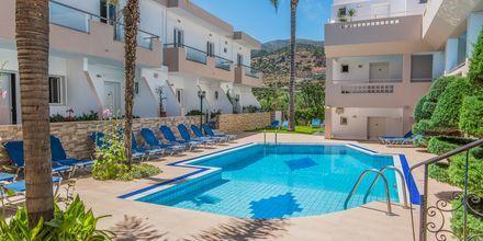 Poolområdet på hotell Emerald i Malia på Kreta.