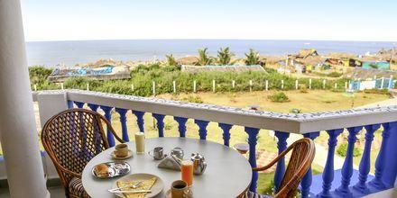 Balkong på Empire Beach Resort i norra Goa, Indien.