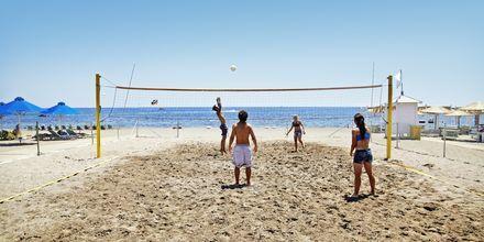 Beach volley på hotell Epsilon på Rhodos, Grekland.