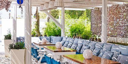 Restaurang på hotell Epsilon på Rhodos, Grekland.
