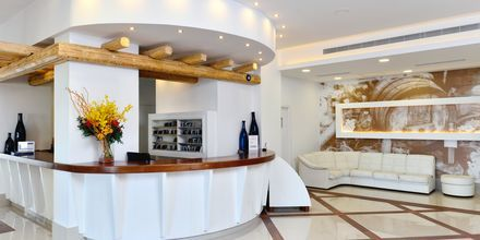 Receptionen på hotell Epsilon på Rhodos, Grekland.