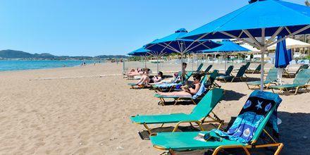 Strand på hotell Epsilon på Rhodos, Grekland.