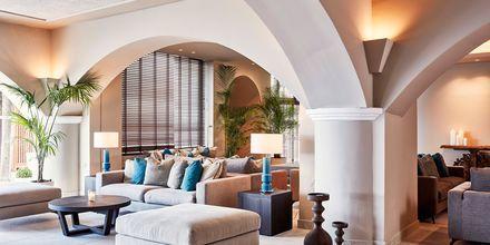Lobby på Restaurang på Hotell Esperos Village Blue & Spa på Rhodos, Grekland.