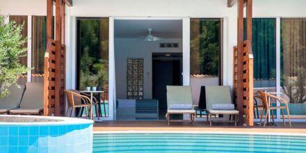 Superiorrum på Hotell Esperos Village Blue & Spa på Rhodos, Grekland.